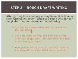 steps of the writing process ppt video online step 3 rough draft writing