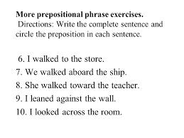 Identifying Prepositional Phrases Worksheet - Switchconf