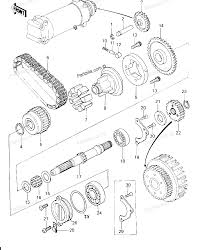 Kawasaki motorcycle parts 1978 kz650 b2a secondary shaft