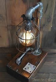 steampunk office. Amazon.com: Steampunk Desk Lamp Lighting Rustic Light Industrial Decor Pipe Pipes Edison Bulb Vintage: Handmade Office F