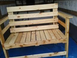 Outdoor pallet furniture Grey Pallet Bench For Outdoor Pallet Furniture Plans Outdoor Seating Bench Made From Pallets Wood Pallet Furniture Plans