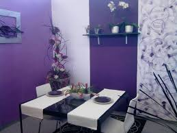 Purple Home Accents Leather Dining Chairs Room With Walls Table ...