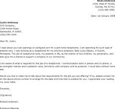 Sample Cover Letter For Receptionist Position | Cover Letter ...