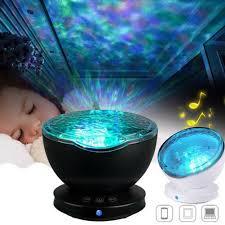 Ocean Night Light 7 Colors Usb Led Ocean Night Light Sleep Music Timing With