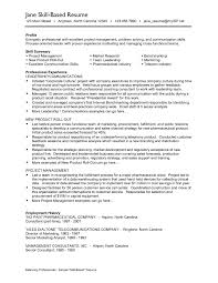 Example Of A Skills Resume Receptionist Resume Sample Example Of