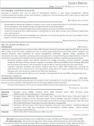 Network Administrator Resume Example Network Administrator Resume
