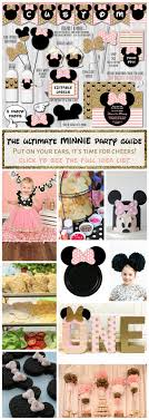 Pink And Black Minnie Mouse Decorations Minnie Mouse Party Guide Parties Full Of Wonder