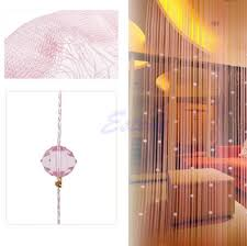 string curtain panel spangle fringe room door beads window divider panel blind order 18no track bead reamer panel light bead with 17 73 piece on