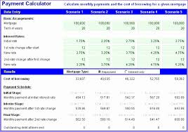 excel mortgage calculator payment calculator72