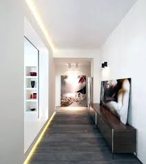 modern hallway lighting. Modern Hallway Lighting With Recessed Wall And Wooden Floor Pendant L