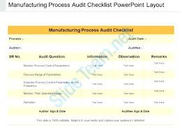 Layered Process Audit Template Manufacturing Plan Checklist Format ...