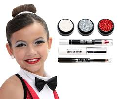 ava holo silver glitter 6 piece dance makeup kit