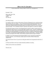 financial analyst cover letter examples free cover letter finance cover letter samples