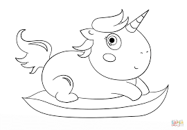 Small Picture Baby Chibi Unicorn coloring page Free Printable Coloring Pages
