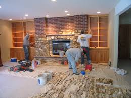 re cover a brick fireplace with stone if we ever have a house with
