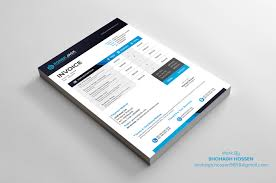 Invoice Designs 24 Invoice Design Free Download on Behance 1