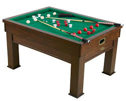 Pool And Dining Table 3 In 1 Rectangular Bumper Pool Card Dining Table In Walnut By