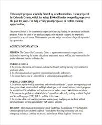 Free 8 Non Profit Proposal Examples Samples In Doc Pdf