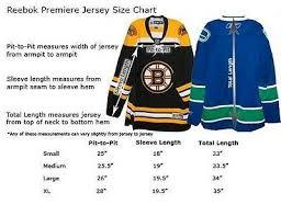 Nhl Jersey Size Chart Reebok Ice Hockey Jersey Size Chart