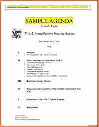 Program Of Events Sample 005 Template Ideas Sample Church Business Meeting Agenda Editable