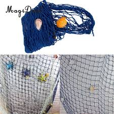 Dream Catcher Fishing Enchanting MagiDeal Decorative Fishing Net With Shells Seaside Kids Rooms