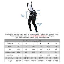 Chaser Size Chart Santic Ryan Black Men Padded Cycling Bib Long Pants