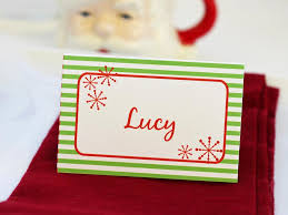 Holiday Placecards Templates For Customizable Holiday Place Setting Cards Diy