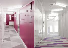 office interior wall colors gorgeous. Amazing Modern Colorful Skype\u0027s Stockholm Office : Gorgeous Hallway Skype Interior Design With Wall Colors N