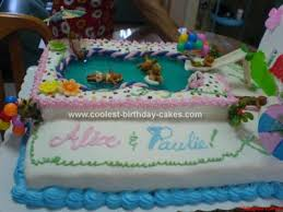 cool shaped swimming pools. Homemade Swimming Pool Party Cake Cool Shaped Pools