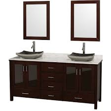 lucy  double bathroom vanity set with vessel sinks