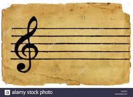 Blank Sheet Of Music Treble Clef And Musical Staff On Blank Sheet Music With