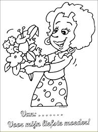 Moederdag Bloemen Moederdag Kleurplaten
