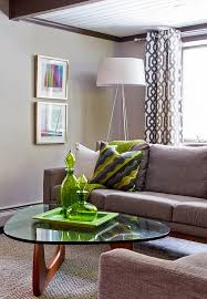 view in gallery oversized tripod floor lamp in the cozy living room in gray