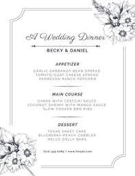 Wedding Menu Maker Create Wedding Menus Online For Free Fotojet