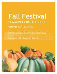 Fall Festival Flier Fall Festival Church Flyer Template Flyer Templates
