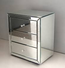 mirrored bedside table. venetian mirror bedside table set of 2 mirrored