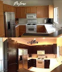 dark stained kitchen cabinets. How To Refinish Cabinets With Gel Stain Kitchen Modern Staining Cormansworld Dark Stained B
