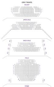 Lyric Theatre Seating Plan Boxoffice Co Uk