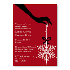 Ladies Holiday Cocktail Party Invitation Snowflake Cocktails