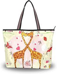 UHONEY Extra Large Handbags for Women, <b>Cartoon</b> Cute Giraffe ...