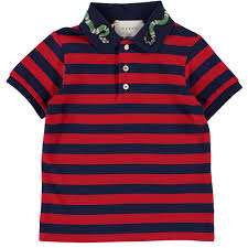 gucci polo. picture of short sleeved snake applique stripe polo navy \u0026 red gucci