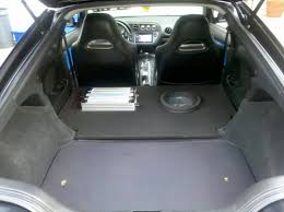 acura integra interior backseat. took out the back seats and made this custom enclosure cost me about 500 in materials but 5 hours to fabricate what yall think acura integra interior backseat