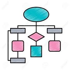 Diagram Flow Chart Connection Empty Vector Illustration