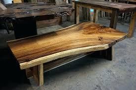 wood slab coffee table for diy with metal legs