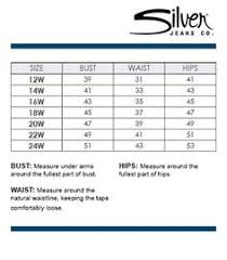 Buckle Silver Jeans Size Chart Best Picture Of Chart