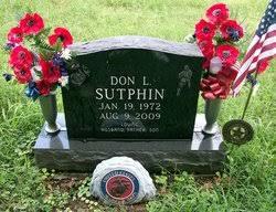 "Corp Donald L ""Don"" Sutphin (1972-2009) - Find A Grave Memorial"