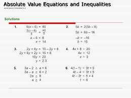 solving equations involving absolute value worksheet tessshlo