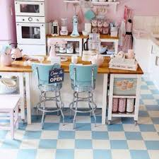 Retro Kitchen Flooring Kitchen Rustic Vintage Kitchen Decor With Carved Cabinets Also