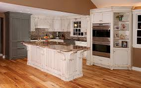Magnificent Ideas Distressed White Kitchen Cabinets Kitchens With Island  Custom
