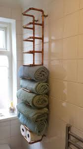 towel holder ideas. Pleasant Bathroom Cabinet With Towel Rail Ideas Curtain Design And Diy Storage 7 Holder